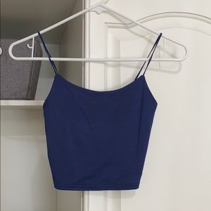 Navy blue cami cropped tank
